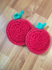 Apple Scrubbies - Set Of 2 - Red And Green