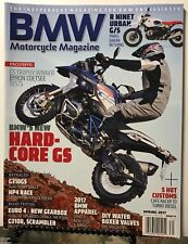 BMW Motorcycle Mag Hard Core GS Customs Cafe Racer Spring 2017 FREE SHIPPING JB