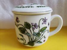 Porcelain Tea Mug with Lid and Infuser/Strainer Teaware
