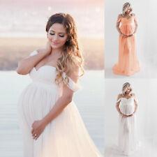 Schwangere Bandeau Maxikleid Schwangerschaft Hochzeit Fotoshooting Umstandskleid