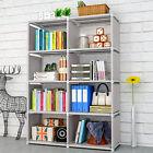 8 Cube Storage Shelf Rack Bookcase Cabinet Organizer Bookshelf Display Unit USA