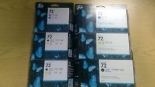 Genuine HP Designjet 72 ink cartridge assortment