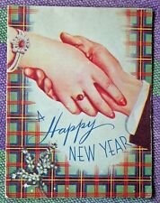 """VINTAGE GREETING CARD...""""A HAPPY NEW YEAR"""""""