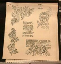 Vera Waters #4421 Wax Stencil for Textile Painting Chrysanthemums Vintage Unused
