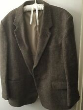Mens Vintage Harris Tweed Jacket 100% Pure Scottish Wool Small To Medium Size
