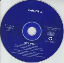 Warren G: Do You See PROMO MUSIC AUDIO CD 1 track CLEAN LP VERSION EMI Mama Say