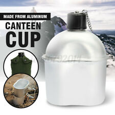 Army Drinking Flask Water Bottle Mug & Pouch Military Canteen Camping Hiking New