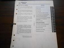1983 Honda CR80 R Factory Service Shop Repair Manual