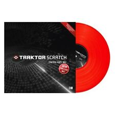 New Native Instruments Traktor Scratch Control Timecode Vinyl MK2 Red SINGLE