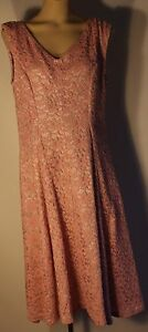 LARGE,SIZE 16  WOMENS DRESS. VINTAGE FABRIC & PATTERN NEW MADE, WORN ONCE.