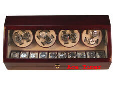 8 Automatic Watches Winder Rosewood + 10 Storage Slots (6 settings)