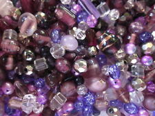 100g Amethyst/Purple Glass Bead Mix #1841 Combine Postage-See Listing