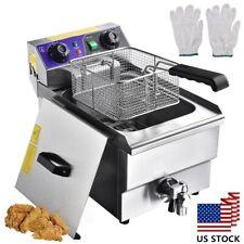 1500w 117l Electric Deep Fryer Single Tank Fryer Machine Commercial Restaurant