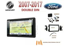 2007-2017 FORD DOUBLE DIN CAR STEREO KIT, SIRIUS XM GPS NAV DVD TOUCHSCREEN