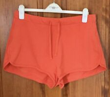 New listing PAPAYA Women's Burnt Orange Casual Elasticated Waist Cotton Shorts - Size 16