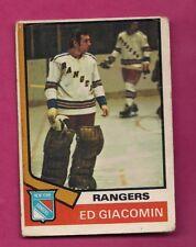 1974-75 OPC  # 160 RANGERS ED GIACOMIN GOALIE VG CARD (INV# A7103)