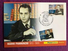 """2010 Cartolina Filatelica FDC """"Mario Pannunzio"""" Annullo TORINO CENTRO"""