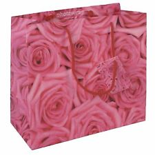 4 Gift Bags - Large, Medium, Small and Bottle - Pink Roses design