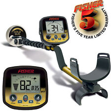 "Fisher Gold Bug Pro Metal Detector with 5"" DD Double-D Coil and 5 Year Warranty"