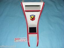 FIAT 500 F/L/R TUNNEL ADATTATORE PORTA RADIO OGGETTI VANO STEREO BIANCO ABARTH