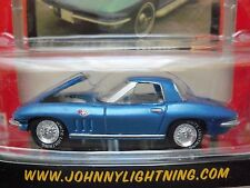JOHNNY LIGHTNING - CHEVY THUNDER - WHITE LIGHTNING - (1966) '66 CORVETTE (BLUE)