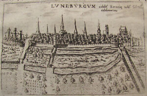 STADE. Original Kupferstich von VALEGIO, 1713