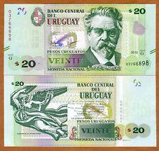 Uruguay, 20 Pesos Uruguayos, 2015 (2017), P-New, Upgraded Security Serie G, UNC