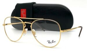 Ray Ban Aviator  RX6413 2500 Gold 54mm Eyeglasses