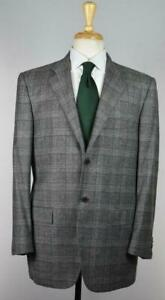 KITON Black Mens Recent 2-BTN Wool Cashmere Suit 40 R US NEW $9250 Imperfect