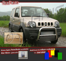 SUZUKI JIMNY 06+ LOW BULL BAR WITHOUT AXLE BARS +GRATIS!! STAINLESS STEEL