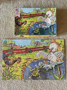 VINTAGE Milton Bradley Kids Jigsaw Puzzle 60 PC Series Farm Scene 1977