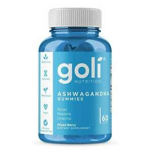 Goli Ashwagandha Gummies, 60 Gummies