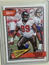 WARREN SAPP 2018 CLASSIC PARALLEL #'D 29/299 BUCS