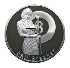 Ball Breaker Heads Tails Challenge Coin Art Good Luck Gift Billiards Pool Player