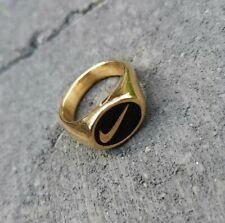 Rare Gold Custom Nike Swoosh Rings