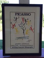 Pablo Picasso Vintage Gallery Exhibition Litho Dance Of Peace Poster Plate Sign