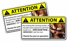 Boobs Warning Sticker Get Em Out Drink Beer Party Girl