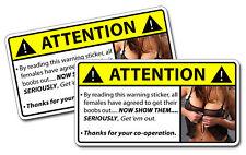 Boobs Warning Sticker Get Em Out Truck Off Road Mud Bog