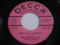 SHIGGIES The Kingston Trio Little Play Soldiers Original 1965 45rpm VG++ PROMO