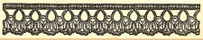 Lace Crochet Border #3 Wood Mounted Rubber Stamp Impression Obsession E13098 NEW