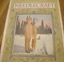 Needlecraft Magazine January 1920   child w/ sled, Cream of Wheat ad