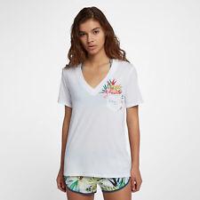Hurley OVERGROWN perfecto mujer camiseta con cuello en V m Blanco Multicolor