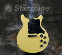 2019 New Junior Electric Guitar Double Cutway 2pcs P90 Pickups Yellow Color