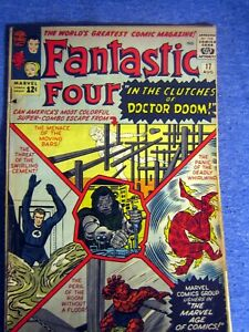 1 COLLECTABLE MARVEL 1963 SILVER AGE FANTASTIC FOUR # 17 VOL.1 COMPLETE COMIC
