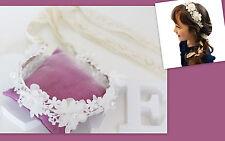 ★★ NEU Kommunion Blumemädchen Blumen Haarkranz creme ivory Kopfschmuck ★★H28