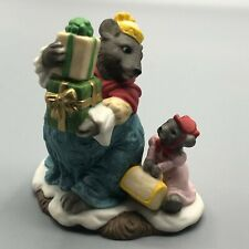 1993 Fitz and Floyd Holiday Hamlet Enchanted Forest Collection Mr. Grizzly & Box