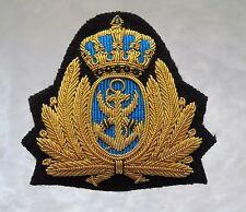 Royal Jordanian Navy Officer/Admirals Bullion Cap Badge