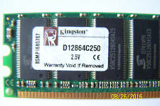 kingston memory 1 GB Module DDR 333MHZ (D12864C250) 2.5V