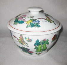 Vintage Chinese Covered Soup Pot Hand Painted