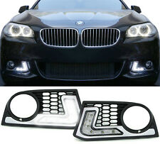 FOG LIGHT COVERS WITH DAYLIGHT RUNNING LIGHT DRL FOR BMW F10 5 SERIES NICE GIFT